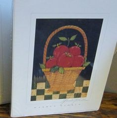 Basket of Apples Print  7727 by Warren Kimble  by VistaChick