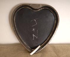 Chalk board heart.