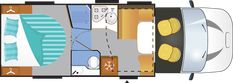 You can find everything you need and more in the Chausson Titanium Featuring a compact long cabin with a rear island bed spanning in width, you are guaranteed a restful night's sleep, ready for a new day's adventure ahead. Hideaway Bed, Latest Generation, Island, Automatic Transmission, Learning, Garage, Lounge, Cozy, Bathroom