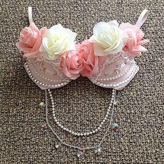 Beautiful rave bra <3 #roses #diy #ravergirl