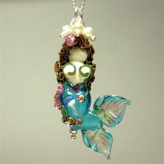 glass mermaid necklace