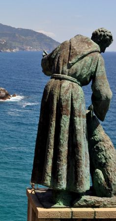 Monterosso al Mare Statue of Saint Francis of Assisi.