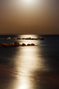 Full moon over Larnaca, Cyprus