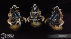 The Internet's largest gallery of painted miniatures, with a large repository of how-to articles on miniature painting Necron Army, Fantasy Battle, Catacombs, Warhammer 40000, Christmas Bulbs, Miniatures, Holiday Decor, Gaming, Models