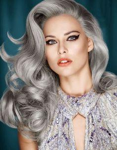 ville de la mode tendance les cheveux grandmre de la couleur des cheveux gris - Coloration Blond Gris