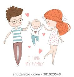 Find Family Fun stock images in HD and millions of other royalty-free stock photos, illustrations and vectors in the Shutterstock collection. Love Drawings, Cartoon Drawings, Art Drawings, Clipart Baby, Family Drawing, Baby Drawing, Cartoon Familie, Baby Painting, Family Illustration