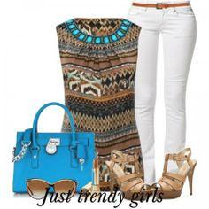 leopard top outfit c