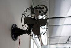 Vintage garage fan