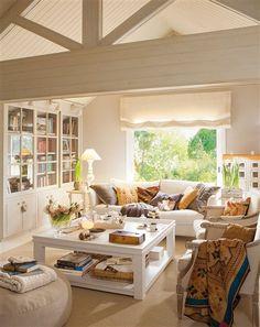 Salón con techo a dos aguas