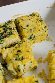 Recipe: Breakfast Polenta Squares with Spinach & Bacon Breakfast Recipes from The Kitchn | The Kitchn