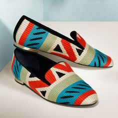 Graphic print loafers for women from the Burberry shoe collection