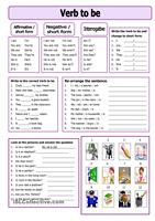 Nine exercises which can be used both for training and for test of the verb to be for beginners. (I have ws as Tmk939 on ESLPrintables.com).Thank you!!! - ESL worksheets