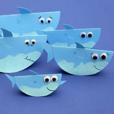 Rocking Paper Shark Family Super Simple - Rocking Paper Shark Family Pin It Its Time For An Adorable Wobbling Craft Lets Make Baby Sharks Family As Seen On Caities Classroom Baby Shark Mama Shark And Papa Shark Summer Crafts For Kids, Paper Crafts For Kids, Art For Kids, Arts And Crafts, Simple Paper Crafts, Preschool Summer Crafts, Simple Crafts For Kids, Kids Diy, Diy Paper