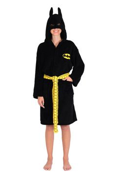 e2bc37a36f DC Comics Batgirl Ladies Fleece Bath Robe Batgirl