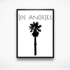 Los Angeles Palm Tree Typography Print by PostModernQuirk on Etsy #la #losangeles