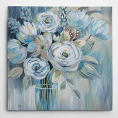 Wexford Home Nan In 'Flourish' Gallery-wrapped Canvas Art (16X16)