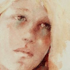 Lelie Abadie Abstract Portrait, Watercolor Portraits, Watercolor Artists, Day Lilies, Art Drawings, Lily, Watercolours, Watercolor Paintings, Tour De Lit