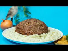 Giant Swedish Meatball And Cheesy Mash Recipe – Hot Videos Almond Flour Recipes, Coconut Macaroons Recipe Panlasang Pinoy, Instant Pot Costco, Bacon Wrapped Meatloaf, Burfi Recipe, Cheesy Mashed Potatoes, Mash Recipe, Macaroon Recipes