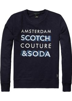 Buy Scotch & Soda Crewneck Sweat in Brushed Felpa. Free UK Delivery available on all purchases at Dapper Street. Scotch Soda, Graphic Sweatshirt, T Shirt, Dapper, Crew Neck, Mens Fashion, Sweatshirts, Sweaters, Html