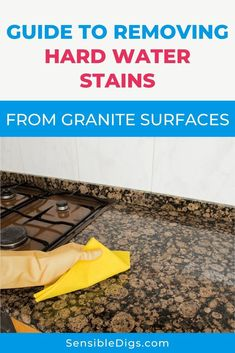 A granite counter top or vanity can be a thing of beauty — unless it's grey and dull because of hard water staining. If this is a problem for you, take a look at our simple guide on removing hard water spots on granite.  #hardwater #watersoftener #softwater #plumbing #plumbingtips
