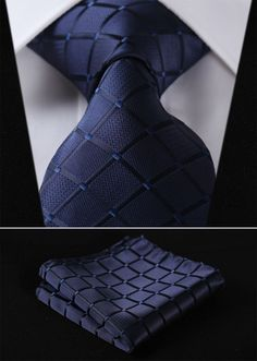 This is a sleek blue design that sets it off perfectly! Comes with Handkerchief