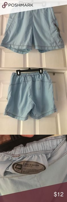 REI light blue shorts Nylon REI Shorts