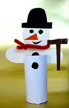 Schneemänner aus Klopapierrollen - Weihnachten-basteln - Meine Enkel und ich - Made with schwedesign.de