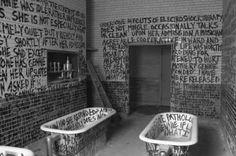 Graffiti in psychiatrisch ziekenhuis