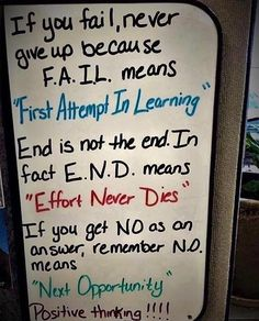 Failure is non existent as long as you never give up. The more you fail the more you learn. The more you learn the more you grow. Never Give Up Meaning, Authors Perspective, Image Positive, Motivational Quotes, Inspirational Quotes, Postive Quotes, Success Quotes, Happy Friday, Quotes To Live By