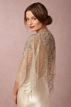 When you don't care about the weather and want to look fabulous, Ursa Beaded Wrap  #WishBigWinBigContest #wedding #registry