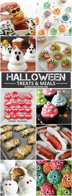 Halloween Treats and Meals - monster treats - silly treats - healthy Halloween food - Gross Halloween Food