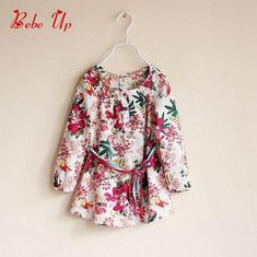 Toddler Girls Floral Long Blouse Cotton Children Girl 2017 Spring Fashion Clothes Kids Flower Print Clothing Long Sleeve