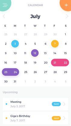 color_  Calendar page