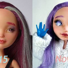 What do you think about my progress? #Carmazin #dollstagram #doll #custom #eahdolls #maddiehatter #repaint #repainteddoll #pastel #eah doll repaint  #progress
