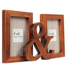 #Anker Wooden Ampersand Photo Frame - 4 x 6 #80 Advantage card points. Display your favourite photos with this 6x4 inch wooden ampersand photo frame which holds 2 photos. FREE Delivery on orders over 45 GBP. (Barcode EAN=5012128394034)