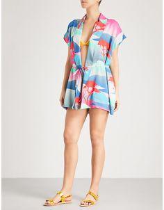 442ba83142e DOUBLE RAINBOUU Moon Safari Little Beach woven kimono