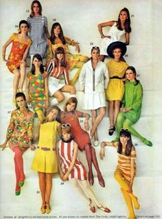 1960s fashion dresses, shoes, sunglasses in summer colors @ vintagedancer.com