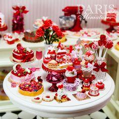 Miniature food - Valentines miniatures