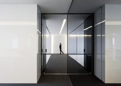 Pure and elegant interior design details inside the Acer office in Barcelona by architect Francesc Rife _