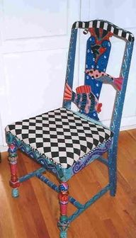 Whimsical Hand Painted Art Furniture   Painted furniture