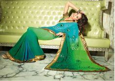 peacock saree