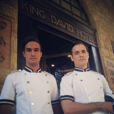 Bellboys at the ready at King David Hotel Jerusalem King David, Team Member, Travel Light, Jerusalem, Resorts, Lighter, Hotels, Boys, Happy