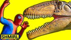 SPIDERMAN vs HULK T-Rex vs Spiderman Dinosaurs Jigsaw Battle - Superhero...