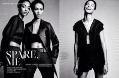 Joan Smalls & Jourdan Dunn's Fashion Spread In W Magazine- http://getmybuzzup.com/wp-content/uploads/2014/01/241048-thumb.png- http://getmybuzzup.com/joan-smalls-jourdan-dunns-fashion-spread-w-magazine/- By Don Bleek  Isn't Joan Smalls slaying these fashion shoots and magazine covers left to right? The other day, I posted her cover and spread in the January 2014 issue of Elle magazine. See the original post here! Now the Puerto Rican fashion model alongside British su