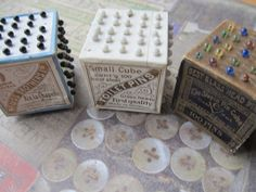 1 Vintage Cube of Glass Pins. $14.95, via Etsy.