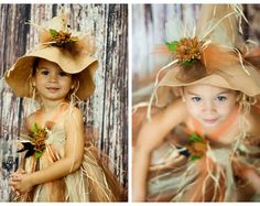 Scarecrow tutu dress. Crocheted top and with raffia by PoshGarden