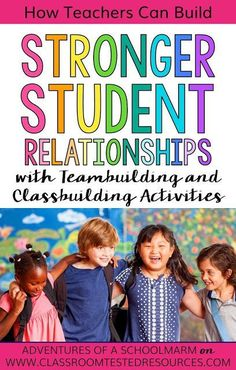 I can't wait to try these practical tips for helping students build stronger relationships in my classroom! A positive classroom community is so important! Student Data Binders, Student Behavior, Student Teacher, Class Building Activities, Teambuilding Activities, Icebreakers, Building Ideas, Physical Activities, Building Classroom Community