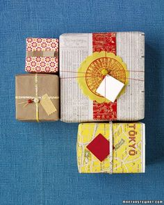 Hula Seventy: Last Minute Gift Wrap Inspiration >> Fun wrapping ideas!
