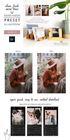 Mobile Photos, Lightroom Presets, Make Your Own, Indoor Outdoor, Free Apps, Warm, Inside Outside