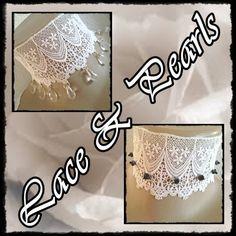 Halsbänder & Choker - *Lace & Pearls* Halsband 1-460+461 - ein Designerstück von ikimmis-passion bei DaWanda